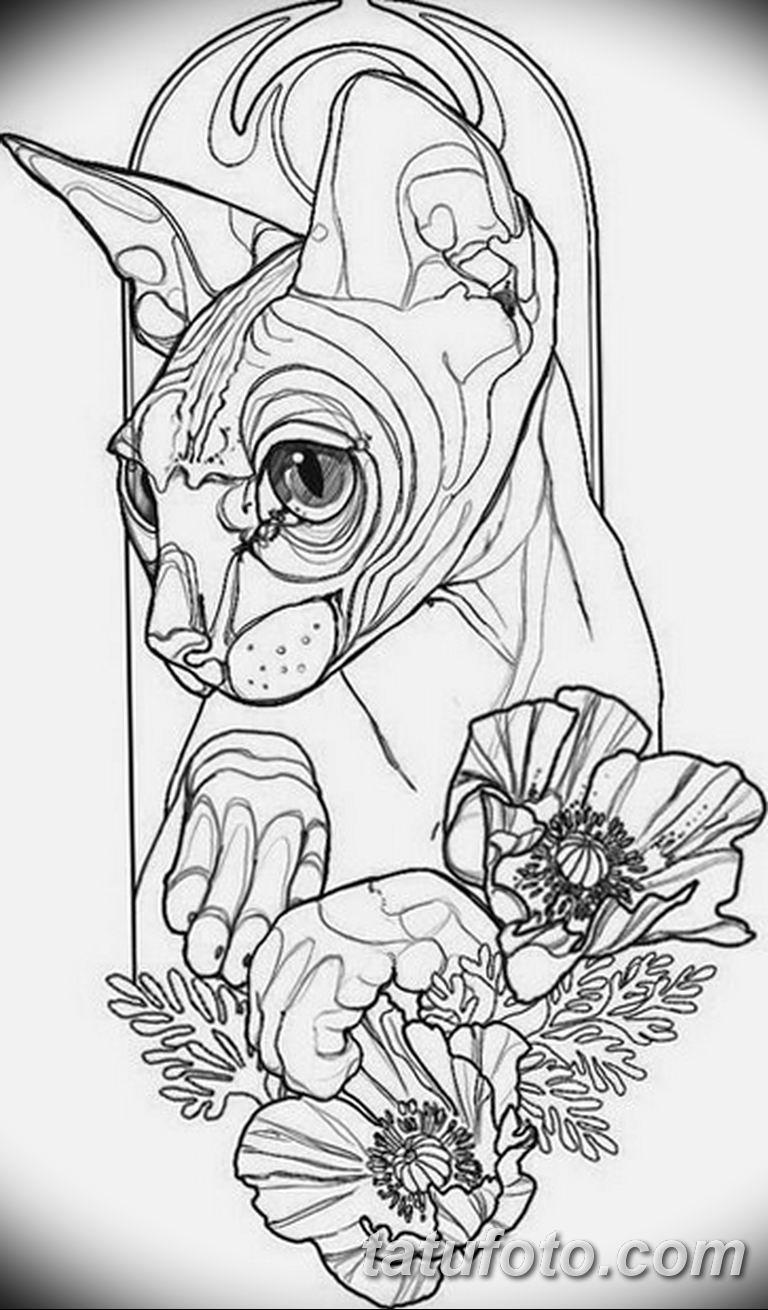 тату эскизы для девушек цветы 08.03.2019 №025 - tattoo sketches - tatufoto.com