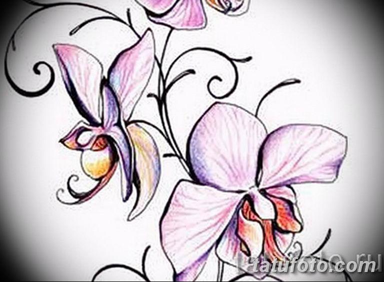 тату эскизы для девушек цветы 08.03.2019 №027 - tattoo sketches - tatufoto.com