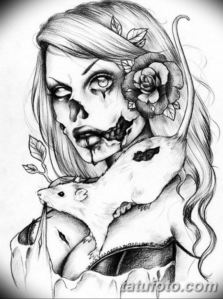 тату эскизы черно белые для девушек 08.03.2019 №002 - tattoo sketches - tatufoto.com