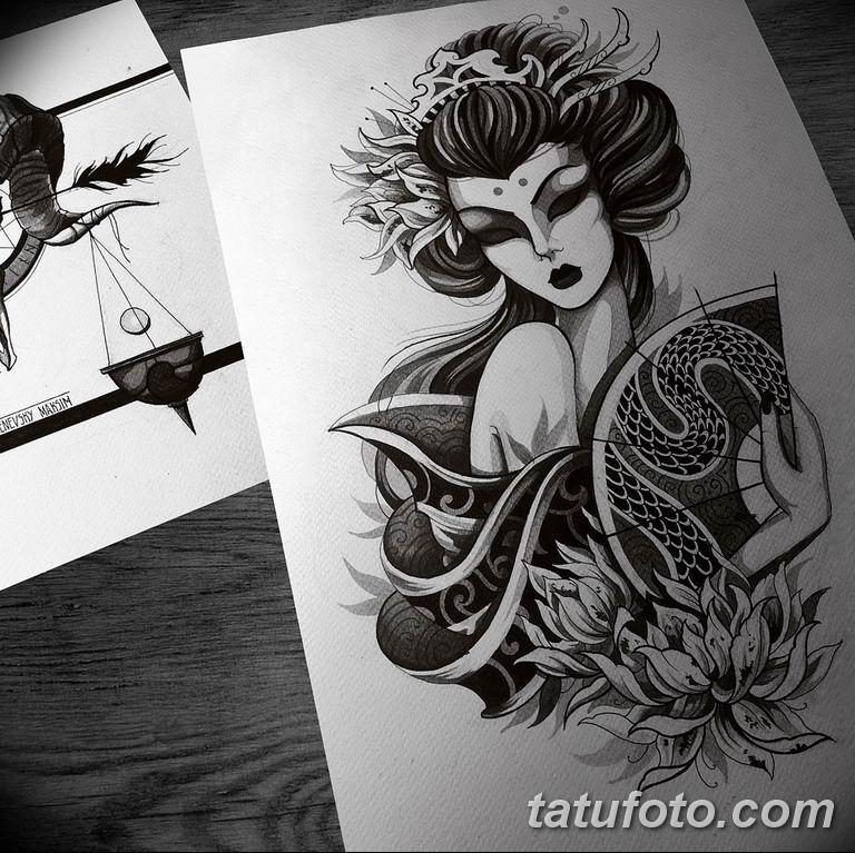 тату эскизы черно белые для девушек 08.03.2019 №003 - tattoo sketches - tatufoto.com