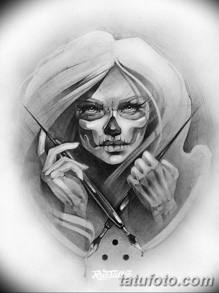 тату эскизы черно белые для девушек 08.03.2019 №018 - tattoo sketches - tatufoto.com