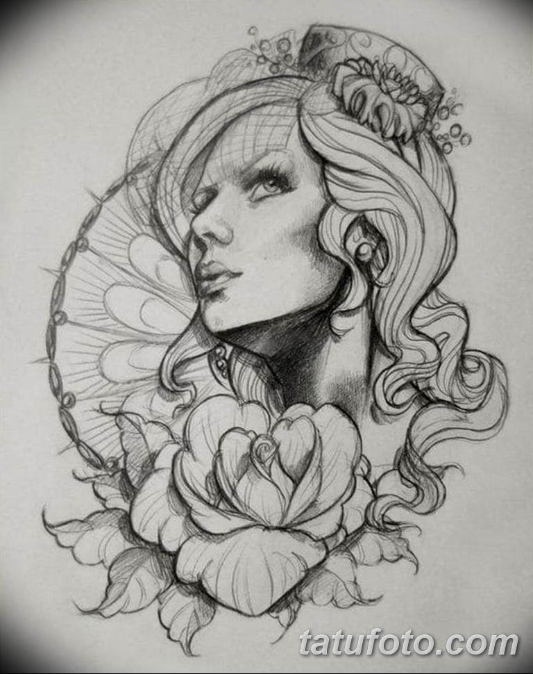 тату эскизы черно белые для девушек 08.03.2019 №027 - tattoo sketches - tatufoto.com