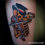 фото вариант рисунка тату со скелетом 26.03.2019 №009 - skeleton tattoo - tatufoto.com