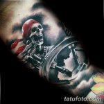фото вариант рисунка тату со скелетом 26.03.2019 №017 - skeleton tattoo - tatufoto.com