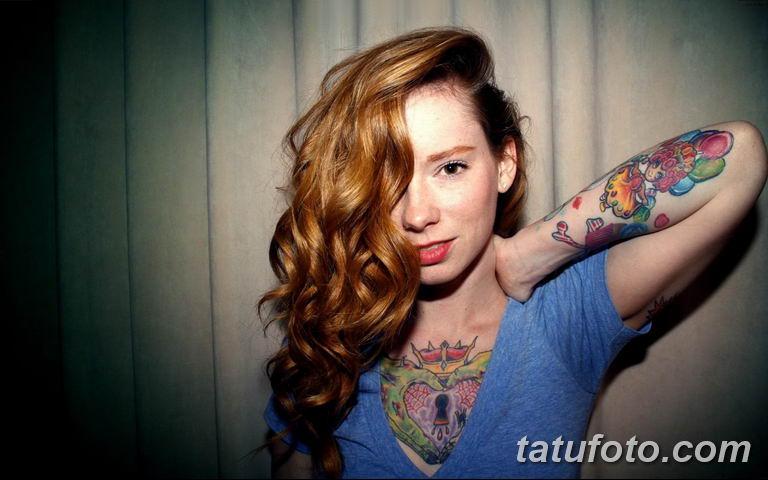 фото женской красивой татуировки 12.03.2019 №043 - girl with a tattoo - tatufoto.com