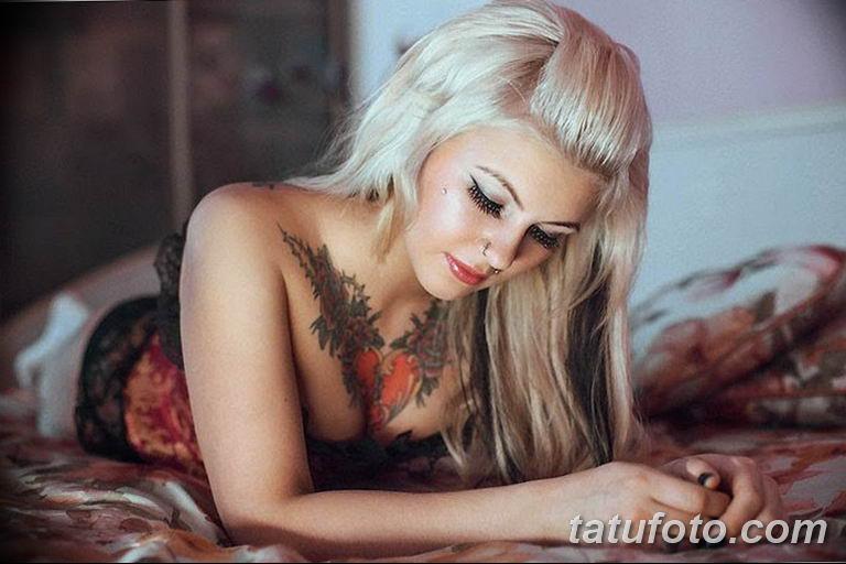 фото женской красивой татуировки 12.03.2019 №044 - girl with a tattoo - tatufoto.com