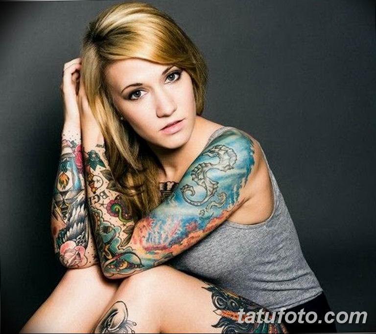 фото женской красивой татуировки 12.03.2019 №078 - girl with a tattoo - tatufoto.com