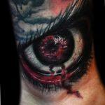 фото идеи тату с кровью 19.03.2019 №017 - blood tattoo - tatufoto.com