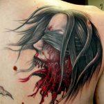 фото идеи тату с кровью 19.03.2019 №018 - blood tattoo - tatufoto.com