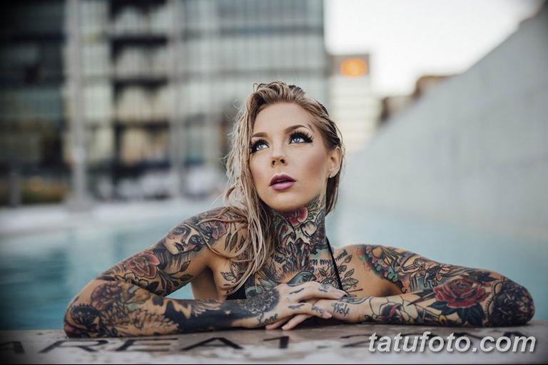фото милой девушки с татуировкой 12.03.2019 №071 - girl with a tattoo - tatufoto.com