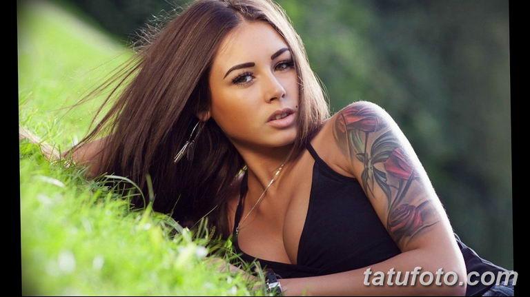 фото милой девушки с татуировкой 12.03.2019 №077 - girl with a tattoo - tatufoto.com
