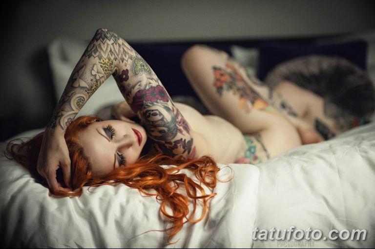 фото милой девушки с татуировкой 12.03.2019 №082 - girl with a tattoo - tatufoto.com