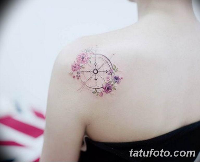 фото милой девушки с татуировкой 12.03.2019 №097 - girl with a tattoo - tatufoto.com