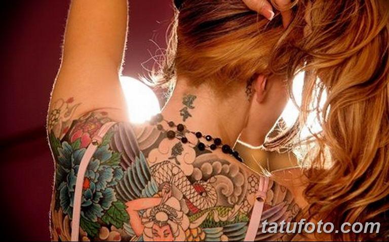 фото милой девушки с татуировкой 12.03.2019 №108 - girl with a tattoo - tatufoto.com