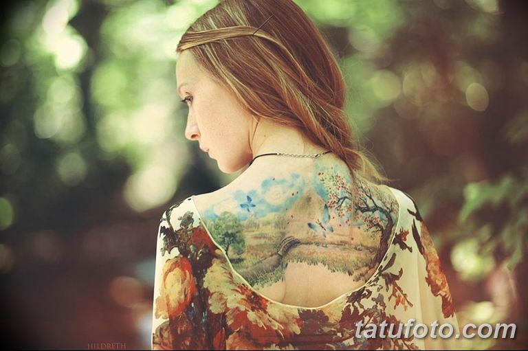 фото милой девушки с татуировкой 12.03.2019 №110 - girl with a tattoo - tatufoto.com