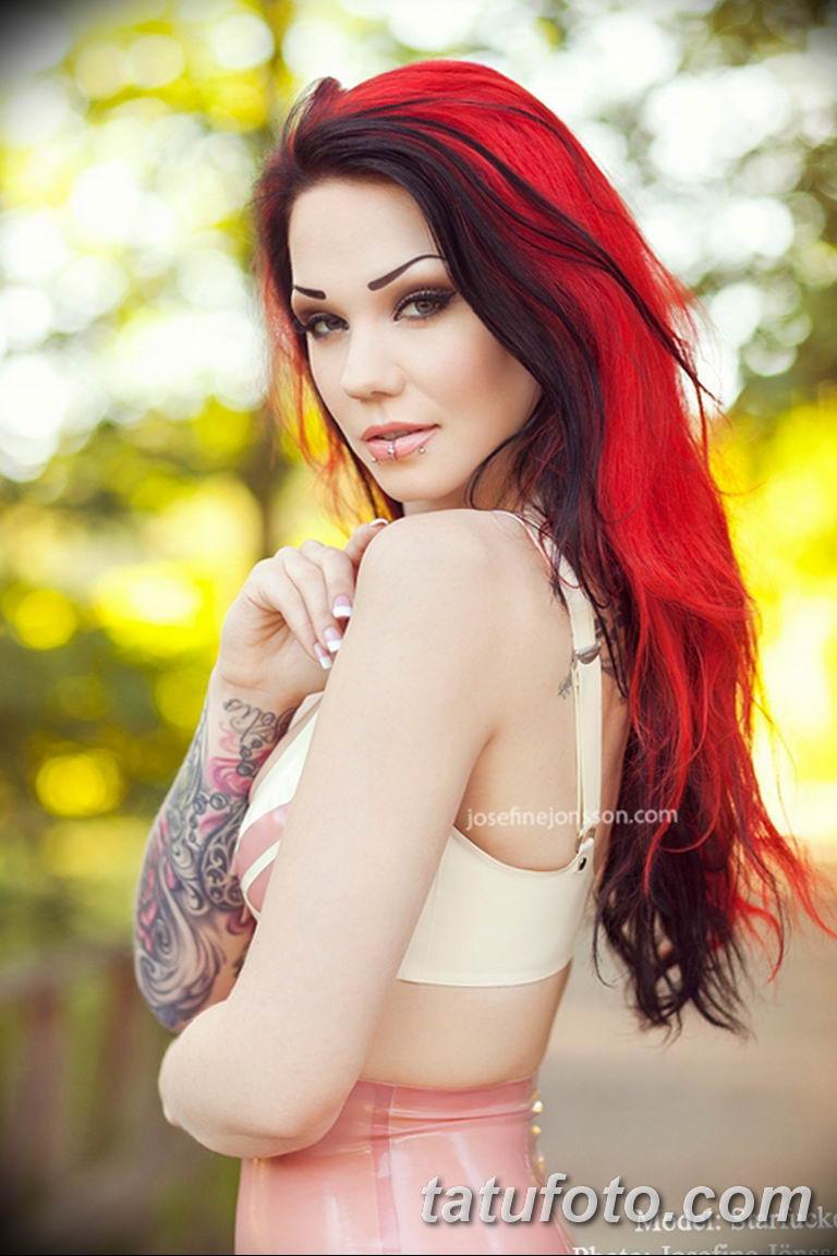 фото милой девушки с татуировкой 12.03.2019 №116 - girl with a tattoo - tatufoto.com