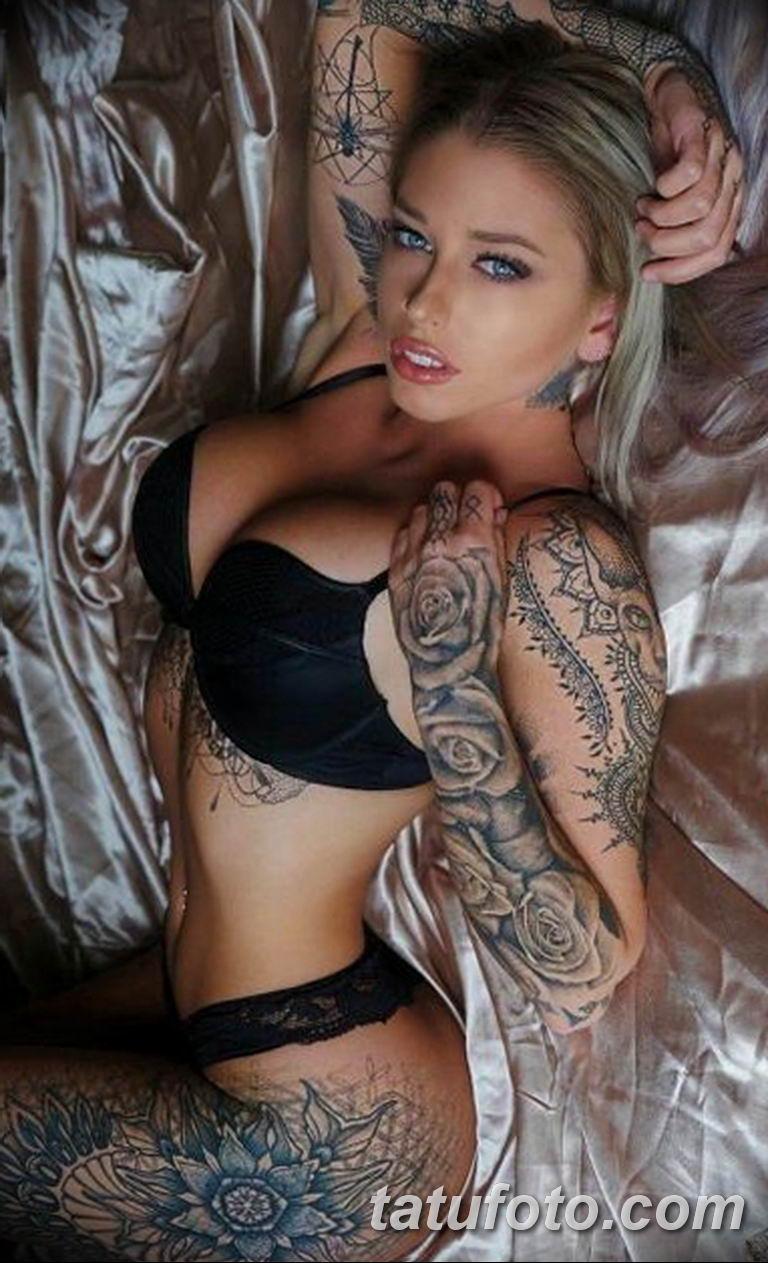 фото милой девушки с татуировкой 12.03.2019 №122 - girl with a tattoo - tatufoto.com