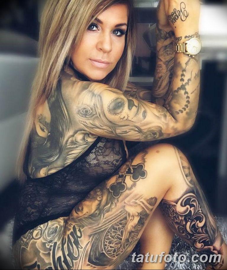 фото милой девушки с татуировкой 12.03.2019 №131 - girl with a tattoo - tatufoto.com