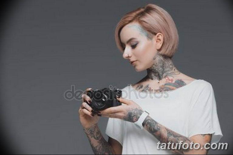 фото милой девушки с татуировкой 12.03.2019 №137 - girl with a tattoo - tatufoto.com