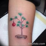 фото тату Ёлки 05.03.2019 №018 - photo tattoo Christmas trees - tatufoto.com