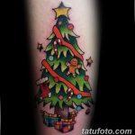 фото тату Ёлки 05.03.2019 №025 - photo tattoo Christmas trees - tatufoto.com