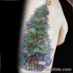 фото тату Ёлки 05.03.2019 №027 - photo tattoo Christmas trees - tatufoto.com