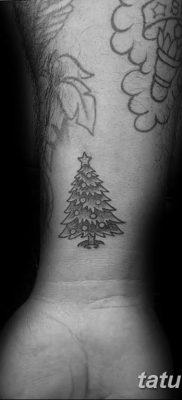 фото тату Ёлки 05.03.2019 №031 – photo tattoo Christmas trees – tatufoto.com