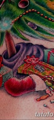 фото тату Ёлки 05.03.2019 №050 – photo tattoo Christmas trees – tatufoto.com