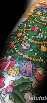 фото тату Ёлки 05.03.2019 №058 – photo tattoo Christmas trees – tatufoto.com