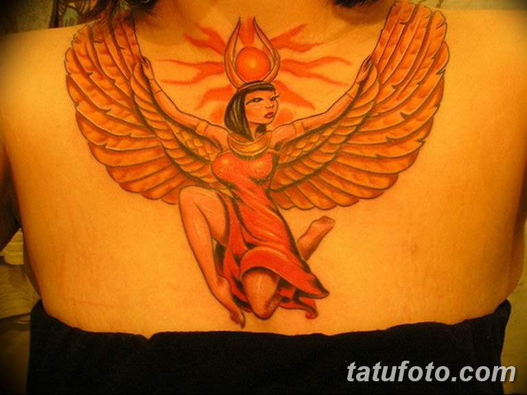 фото тату Богиня Исида 16.03.2019 №071 - Isis tattoo photo - tatufoto.com