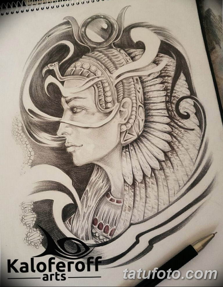 фото тату Богиня Исида 16.03.2019 №137 - Isis tattoo photo - tatufoto.com