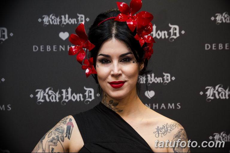 фото тату Кэт Вон Ди 16.03.2019 №101 - photo tattoo Kat Von D - tatufoto.com