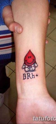 фото тату в виде группы крови 19.03.2019 №002 – blood group tattoo – tatufoto.com