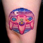 фото тату из пикселей 27.03.2019 №016 - tattoo pixel - tatufoto.com