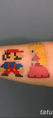 фото тату из пикселей 27.03.2019 №042 – tattoo pixel – tatufoto.com