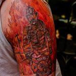 фото тату пожарных 29.03.2019 №057 - fireman tattoo - tatufoto.com