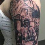 фото тату пожарных 29.03.2019 №061 - fireman tattoo - tatufoto.com