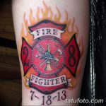 фото тату пожарных 29.03.2019 №062 - fireman tattoo - tatufoto.com