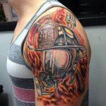 фото тату пожарных 29.03.2019 №145 - fireman tattoo - tatufoto.com