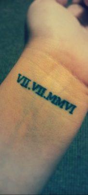фото тату римские цифры 05.03.2019 №039 – photo tattoo roman numerals – tatufoto.com