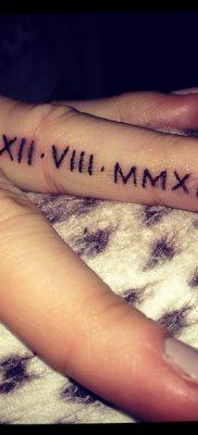фото тату римские цифры 05.03.2019 №041 – photo tattoo roman numerals – tatufoto.com