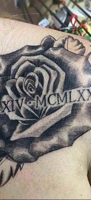 фото тату римские цифры 05.03.2019 №042 – photo tattoo roman numerals – tatufoto.com