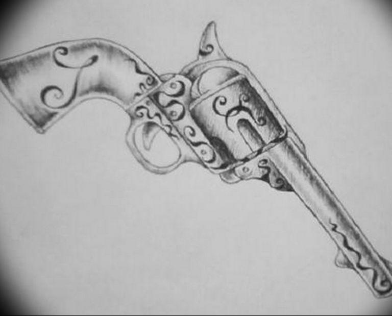 фото тату с пистолето 04.03.2019 №104 - photo tattoo with a gun - tatufoto.com
