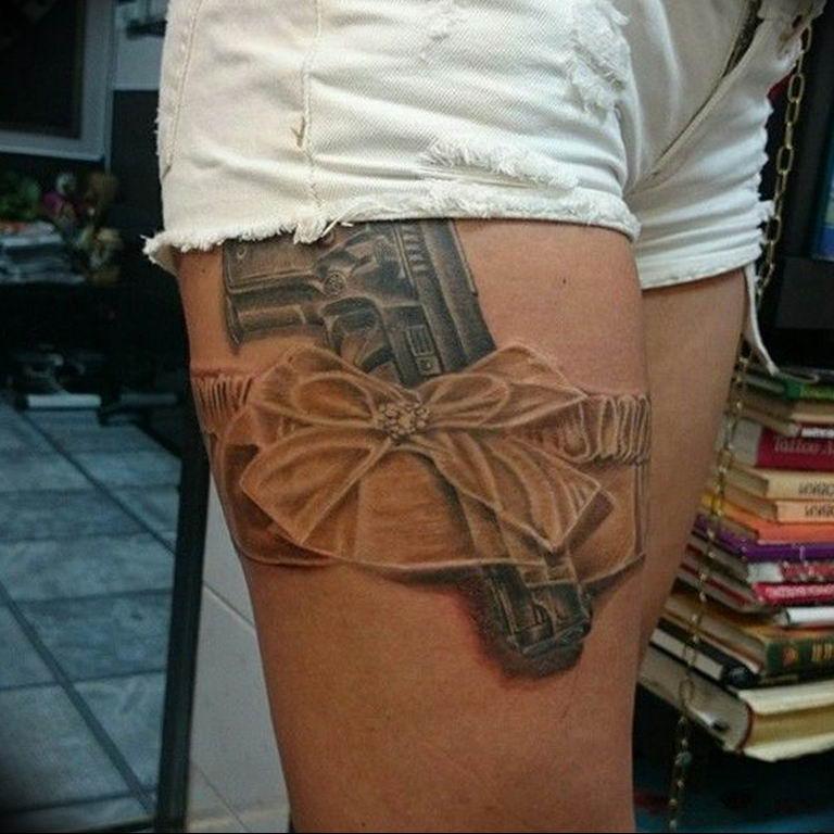 фото тату с пистолето 04.03.2019 №156 - photo tattoo with a gun - tatufoto.com