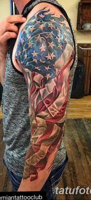 фото тату флаг 03.03.2019 №069 — идея для рисунка тату с флагом — tatufoto.com
