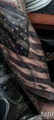 фото тату флаг 03.03.2019 №077 — идея для рисунка тату с флагом — tatufoto.com