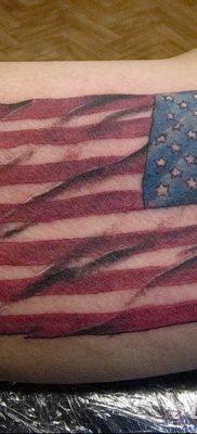 фото тату флаг 03.03.2019 №081 — идея для рисунка тату с флагом — tatufoto.com