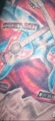 фото тату флаг 03.03.2019 №084 — идея для рисунка тату с флагом — tatufoto.com