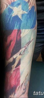 фото тату флаг 03.03.2019 №088 — идея для рисунка тату с флагом — tatufoto.com