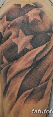 фото тату флаг 03.03.2019 №091 — идея для рисунка тату с флагом — tatufoto.com